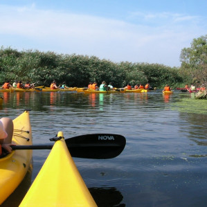 Canoa experience on lake Cedrino