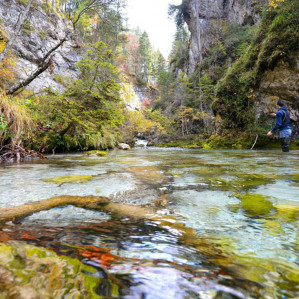 Trekking experience along the river Sarca