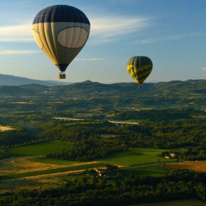 Hot air ballon flight experience over Umbrian and Tuscan Countryside