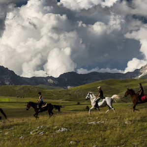 Horse hiking experience in Gran Sasso National Park