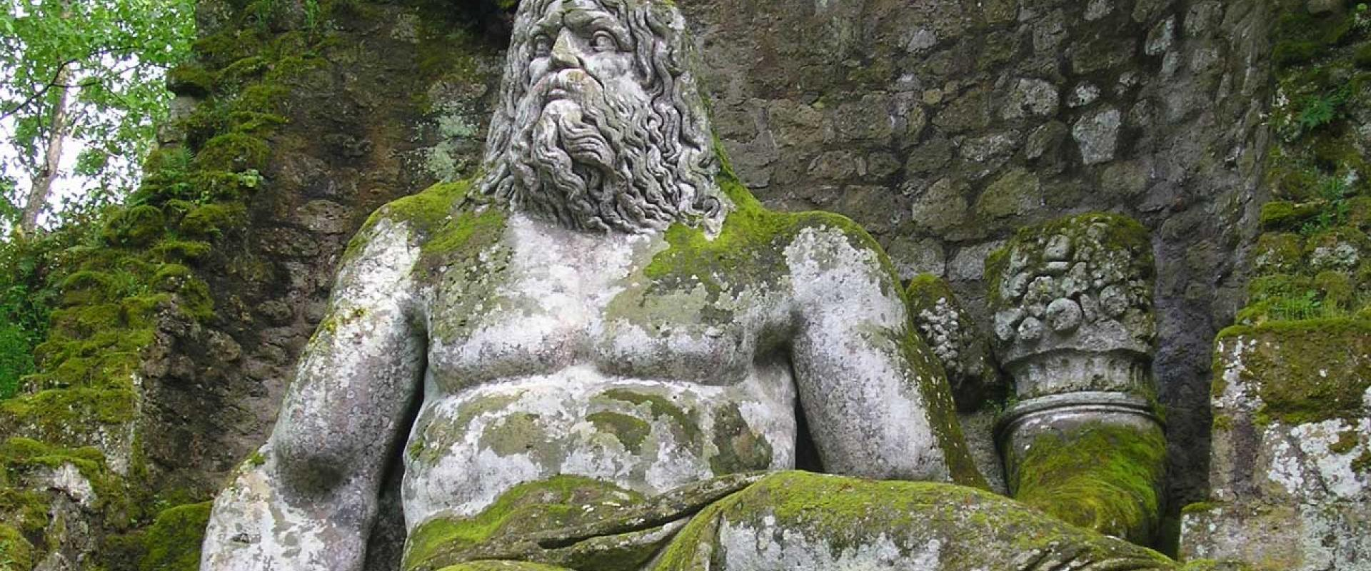 Viist of sacred wood of Bomarzo