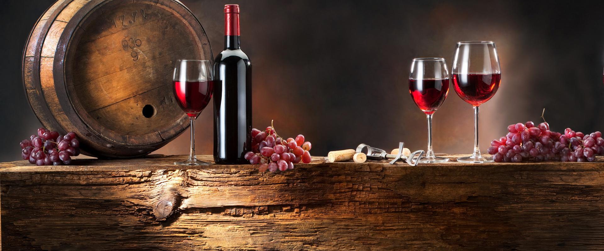 Wine tasting in medieval cellar