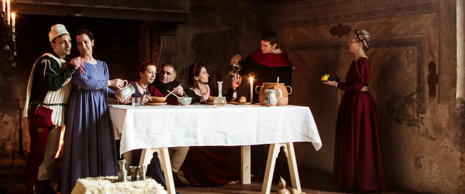 Medieval dinner in historical house