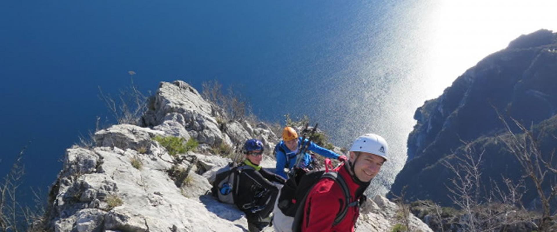 Trekking on Garda