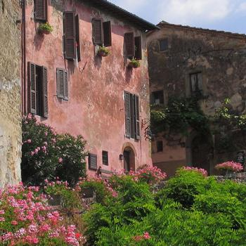 Visit of The Borro,medieval village of Ferragamo