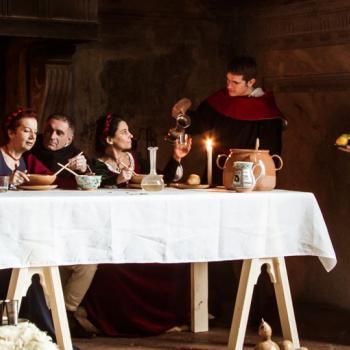 Medieval dinner in historical house