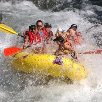 Rafting experience on the river of Tanagro